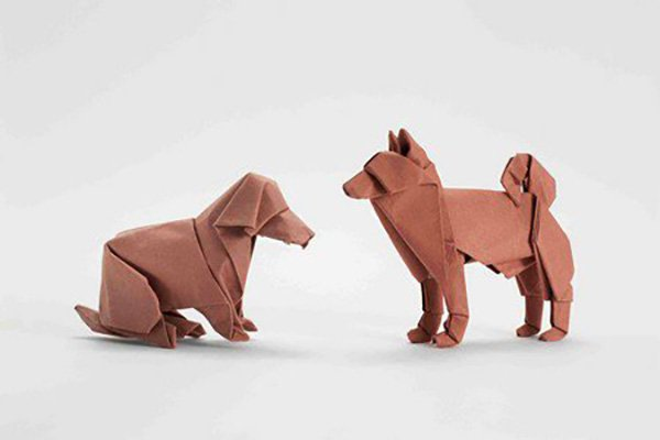 Origami Dogs by Akira Yoshizawa