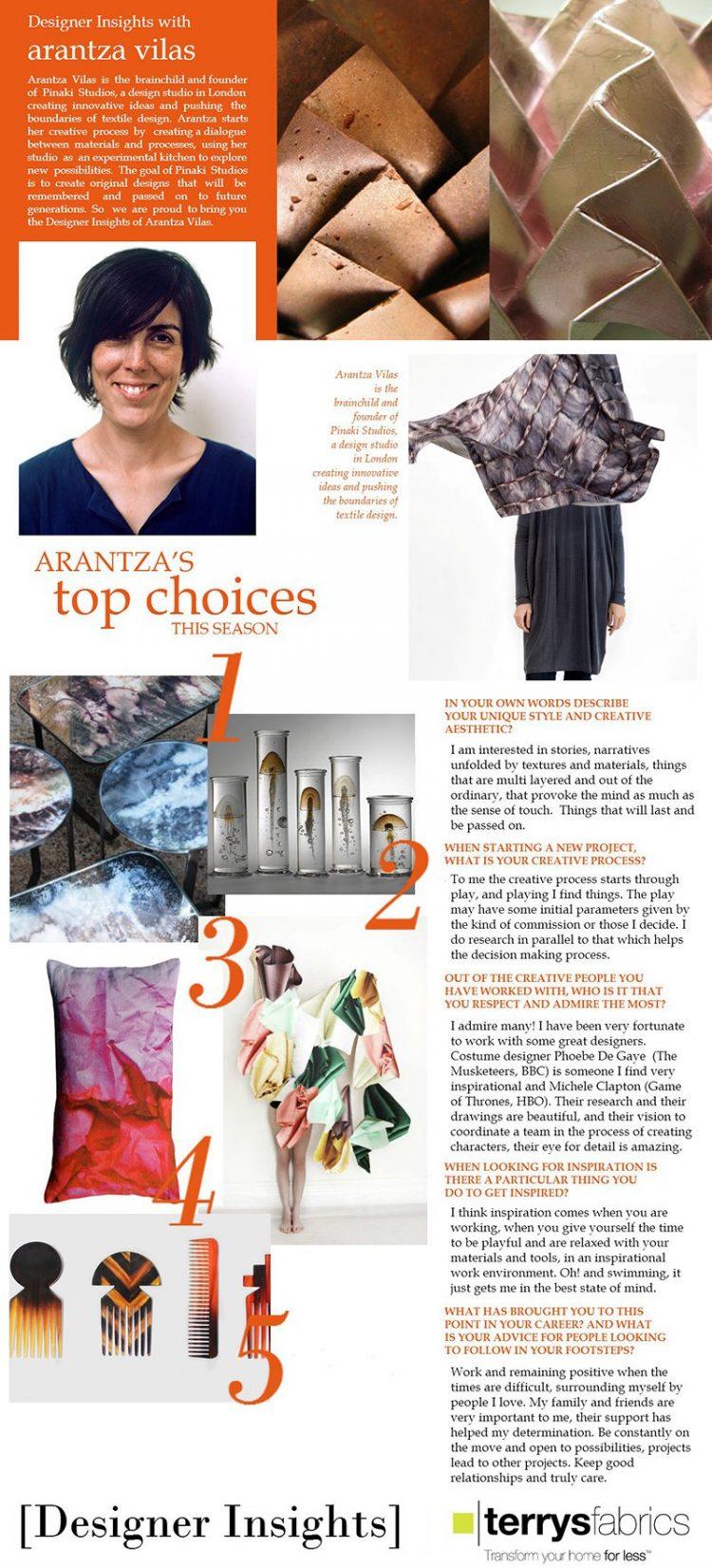 Terry's Fabrics – Designer Insights with Arantza Vilas