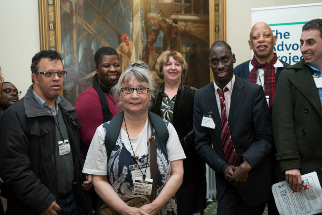 Photo shows a group photo taken at the parliamentary reception.
