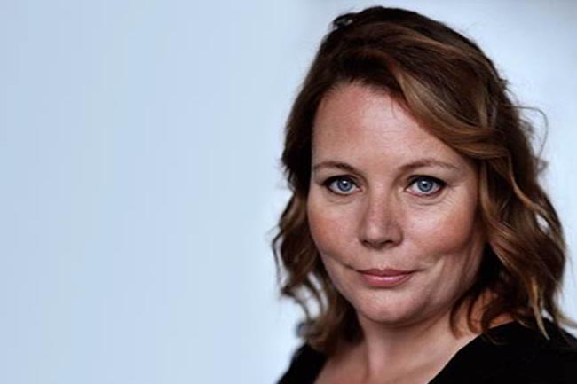 The image is a close-up of Joanna Scanlan, actress and writer