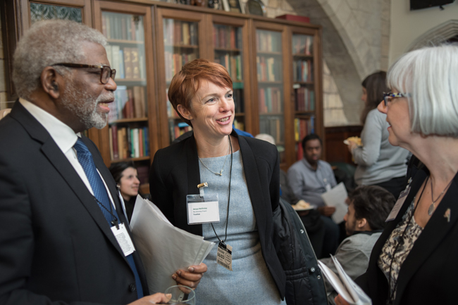 Dele Olajide and Jacqui McKinlay at the Houses of Parliament